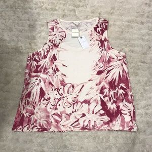 Lucky Brand printed floral tank Size 2X